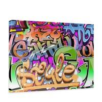 Leinwandbild Kinderzimmer Graffiti Streetart Graffitti Sprayer 3D bunt | no. 221