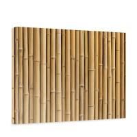 Leinwandbild Golden Bamboo Bambus gold gelb beige Wald Bambuswald Natur Bäume | no. 83