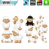 Wandsticker - No. 4717 Wandtattoo Sticker Schaf Schäfchen Tiere Zoo Schwarzes Schaf
