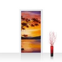 Türtapete - Sonnenuntergang Baum Natur Romantisch Urlaub | no. 241
