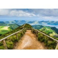Fototapete Landschaft Tapete Berge Aussicht Alpen Urlaub wandern grün | no. 167