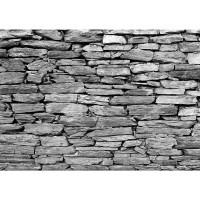 Fototapete Steinwand Tapete Steinwand Steinoptik Steine Wand Mauer Steintapete grau | no. 172