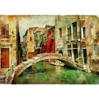 Fototapete Great Venice Italien Tapete Venedig Kanal Italien bunt bunt | no. 55