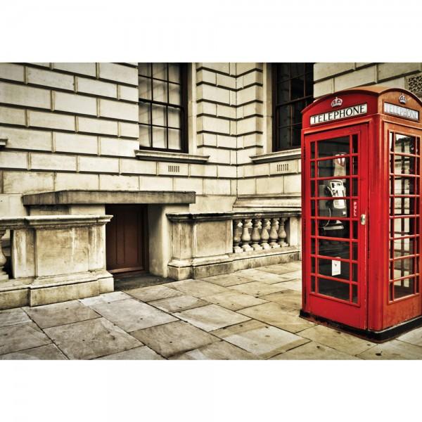 Fototapete London Tapete London Vintage Telefonzelle rot | no. 1346