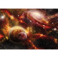 Fototapete Himmel Tapete Weltraum Weltall Galaxy Sterne Planeten Himmel orange | no. 1379