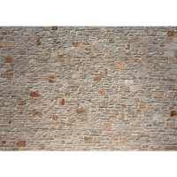 Fototapete Royal Stone Wall Steinwand Tapete Steinwand Steinoptik Stein Wand Wall 3D alte Mauer beige | no. 82