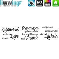 Wandsticker - No. 4848 Wandtattoo Sticker Zuhause Liebe Erinnerung Freunde Lächeln Schrift Spruch Sprüche