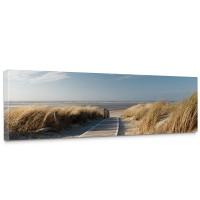 Leinwandbild North Sea Dunes Strand Meer Ostsee Beach Blau Himmel Sonne Sommer | no. 38