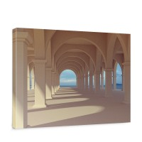 Leinwandbild Romantic Arcade Romantic 3D Perspektive Säulengang Arkade | no. 69