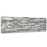 Leinwandbild Noble Stone Wall - grau Steinoptik Steinwand Stonewall Steine | no. 132