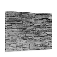 Leinwandbild Asian Stone Wall - anthrazit Steinoptik Steinwand Stonewall Steine | no. 126