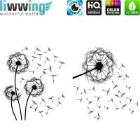 Wandsticker - No. 4836 Wandtattoo Sticker Pusteblume Dandelion Blumen Natur