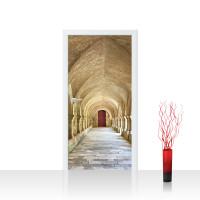 Türtapete - Colonnaded Arcades Arkaden 3D Perspektive Gewölbe Säulen Spanien | no. 65