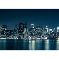 Fototapete New York Blue Night Skyline USA Tapete City Amerika Empire State Building Big Apple blau | no. 22