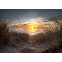 Fototapete North Sea Sunset Strand Tapete Strand Meer Nordsee Ostsee Beach Wasser Blau Himmel Sonne Sommer blau | no. 74