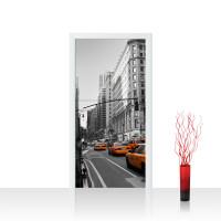 Türtapete - Manhattan Skyline Taxis City Stadt   no. 194