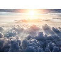 Fototapete Himmel Tapete Sonne, Sonnenstrahlen, Wolken weiß | no. 3222
