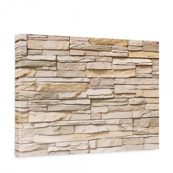 Leinwandbild Asian Stone Wall Steinwand Steine Wand Wall 3D Stein | no. 1
