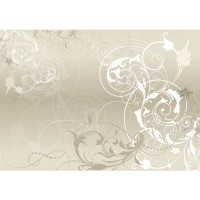 Fototapete Mother of Pearl Ornamente Tapete Schlafzimmer Beige Ornament Tribal beige | no. 17