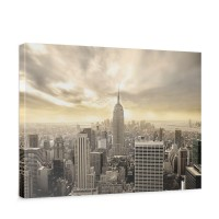 Leinwandbild Manhattan Skyline View New York USA Skyline Sephia | no. 37