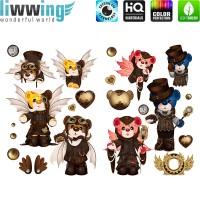 Wandsticker - No. 4714 Wandtattoo Sticker Bär Bären Tiere Zoo Teddys