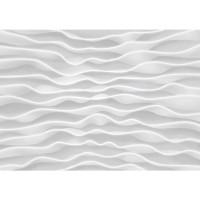 Fototapete Kunst Tapete Design Wellen Abstrakt Muster weiß | no. 2869