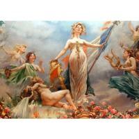 Fototapete classical Fresco - Cahors Theater Kunst Tapete Kunst Fresco Frankreich Wandgemälde Wandmalerei bunt | no. 96