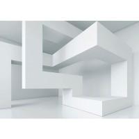 Fototapete 3D Tapete Abstrakt Linien Ecken 3D weiß | no. 592