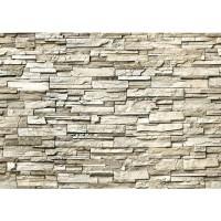 Fototapete Noble Stone Wall - beige - ENDLOS anreihbare Tapete Steinwand Steinoptik Steine Wand Wall beige | no. 134