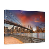 Leinwandbild New York Bridges Skyline New York City USA Amerika Big Apple | no. 21