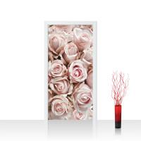 Türtapete - Blumen Rose Blüten Natur Liebe Love Blüte Weiß | no. 189