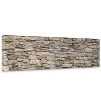 Leinwandbild Steinwand Steinoptik Steine Wand Mauer Stein | no. 166