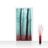 Türtapete - Bäume Wald Laub Nebel | no. 818