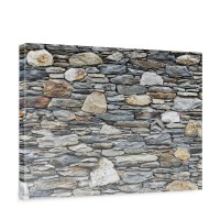 Leinwandbild Steinwand Steinoptik Steine Wand Mauer Stein | no. 161