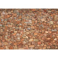 Fototapete Steinwand Tapete Steinwand Steinoptik Steine Wand Mauer Steintapete beige | no. 156
