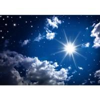 Fototapete Romantic Stars Sternenhimmel Tapete Sternenhimmel Stars Sterne Leuchtsterne Nachthimmel blau | no. 23