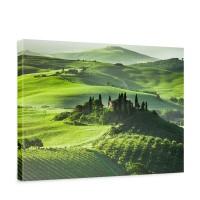 Leinwandbild Sunrise in Tuscany Sonnenaufgang Italien Toskana Weinberg Weingut | no. 68