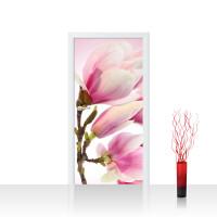 Türtapete - Pink Magnolia Magnolie Blumenranke Pflanzen Natur Orchidee Blume rosa | no. 14
