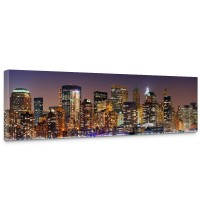 Leinwandbild New York Lights Skyline New York City USA Amerika Big Apple | no. 20