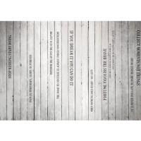 Fototapete Words on Wooden Wall II Schriftkunst Tapete Holzoptik Holzwand Paneel mit Text weiß Brett grau | no. 125