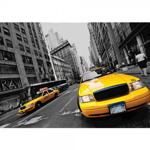 Fototapete New York Tapete Haus Fassade Fahne Taxi Stadt gelb   no. 848