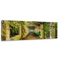 Leinwandbild Way in my Garden Garten Terrasse Blumenranken Blume 3D Perspektive | no. 47