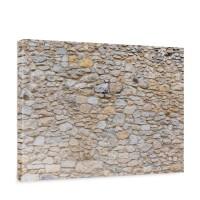 Leinwandbild Steinwand Steinoptik Steine Wand Mauer Stein | no. 149