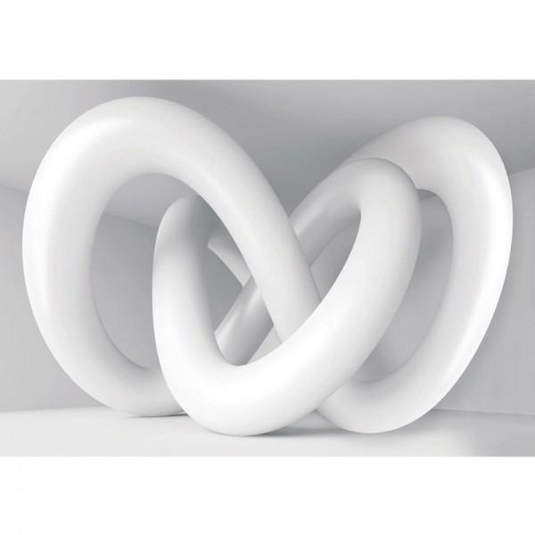 Fototapete 3D Tapete Abstrakt Schlingen 3D Architektur weiß grau | no. 1181
