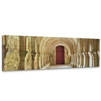 Leinwandbild Colonnaded Arcades Arkaden 3D Perspektive Gewölbe Säulen Spanien | no. 65