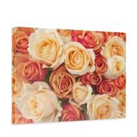 Leinwandbild Blumen Rose Blüten Natur Liebe Love Blüte Gelb | no. 191