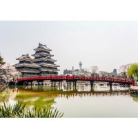Fototapete Japan Tapete Japan Turm Kaiser Wasser Natur orange | no. 253