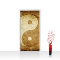 Türtapete - Abstrakt Yin Yang Beige Ruhe | no. 213