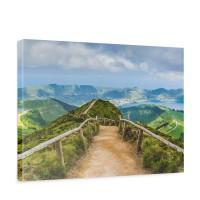 Leinwandbild Berge Aussicht Alpen Urlaub wandern | no. 167