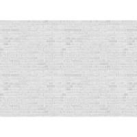 Fototapete White Brick Stone Wall - ENDLOS anreihbare Tapete Steinwand Steinoptik Steine Wand Wall weiß | no. 137